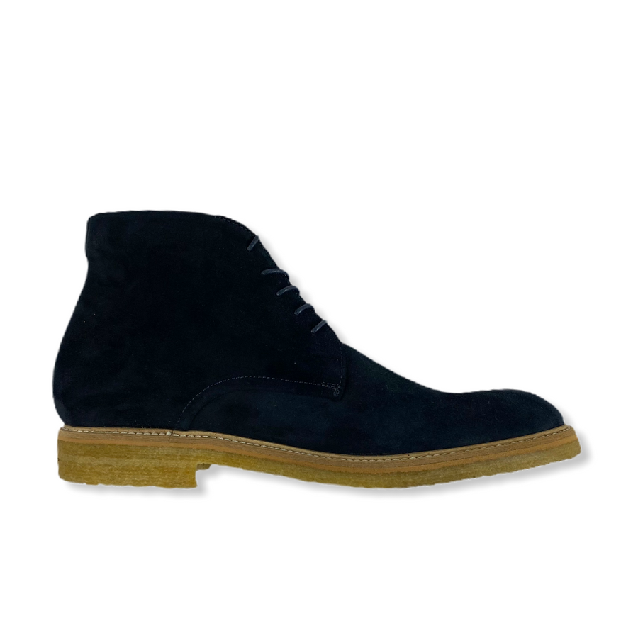 CHUKKA BOOTS IN BLUE SUEDE LEATHER