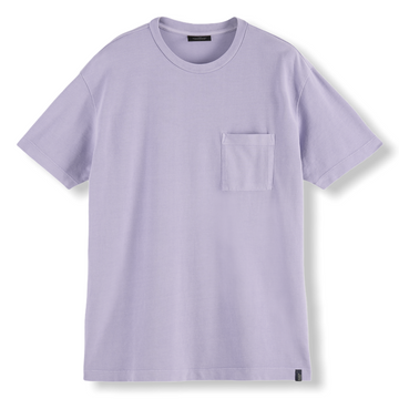 RELAXED FIT ORGANIC T-SHIRT - LILAC