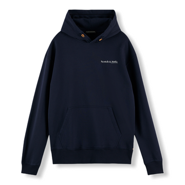 RELAXED ORGANIC COTTON HOODIE - NAVY