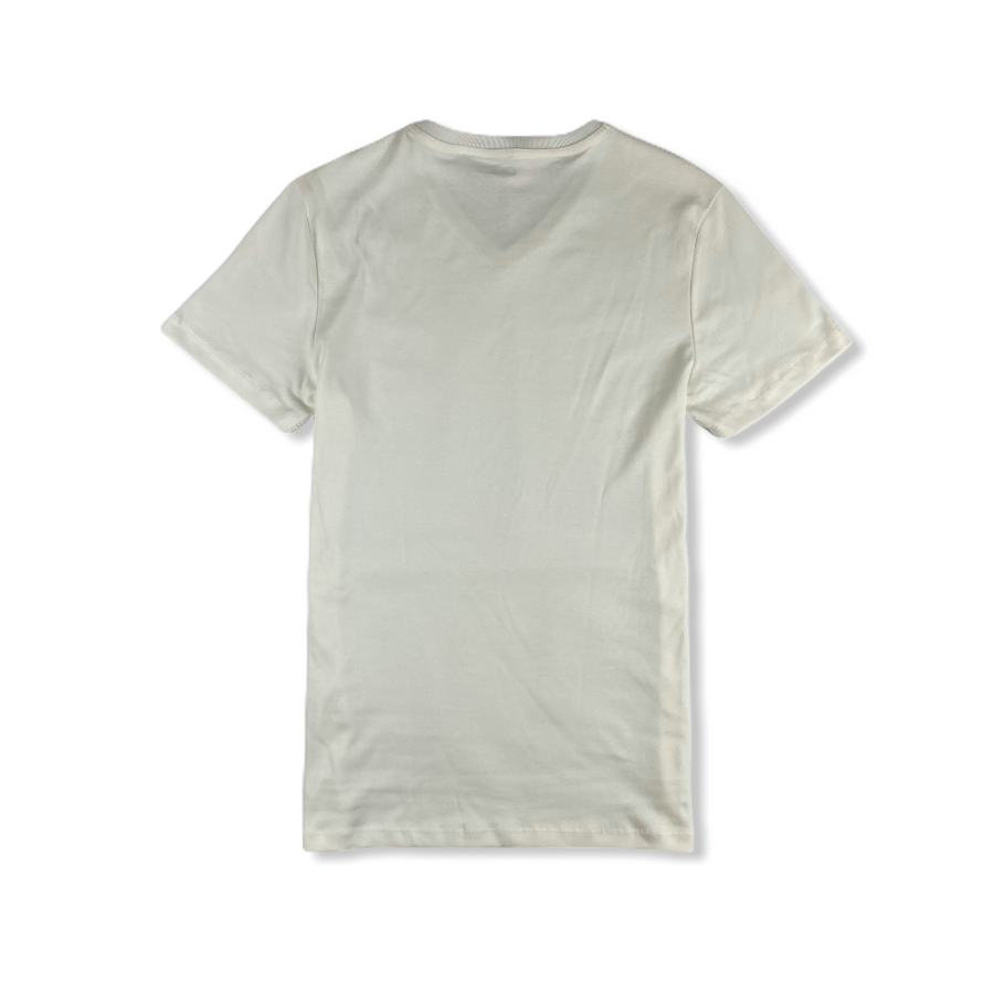 Oran Short Sleeve V-Neck Tee - White
