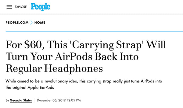 Tapper AirPods Carrying Strap in People Magazine