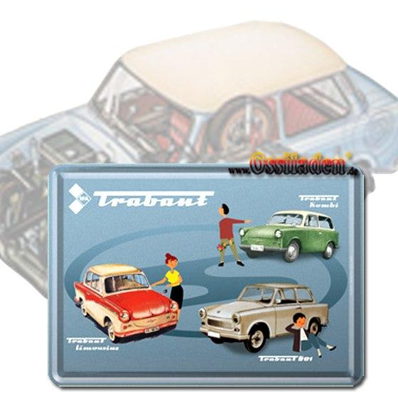 Blechpostkarte - Trabant Collage