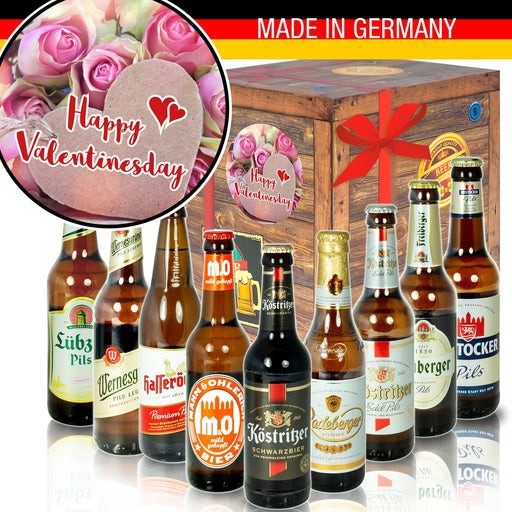 "Happy Valentinesday - Geschenkbox ""Ostbiere"" 9er Set"