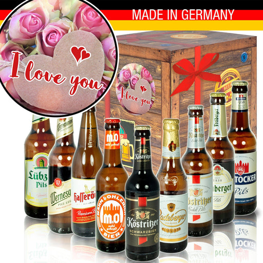 "I Love you - Geschenkbox ""Ostbiere"" 9er Set"