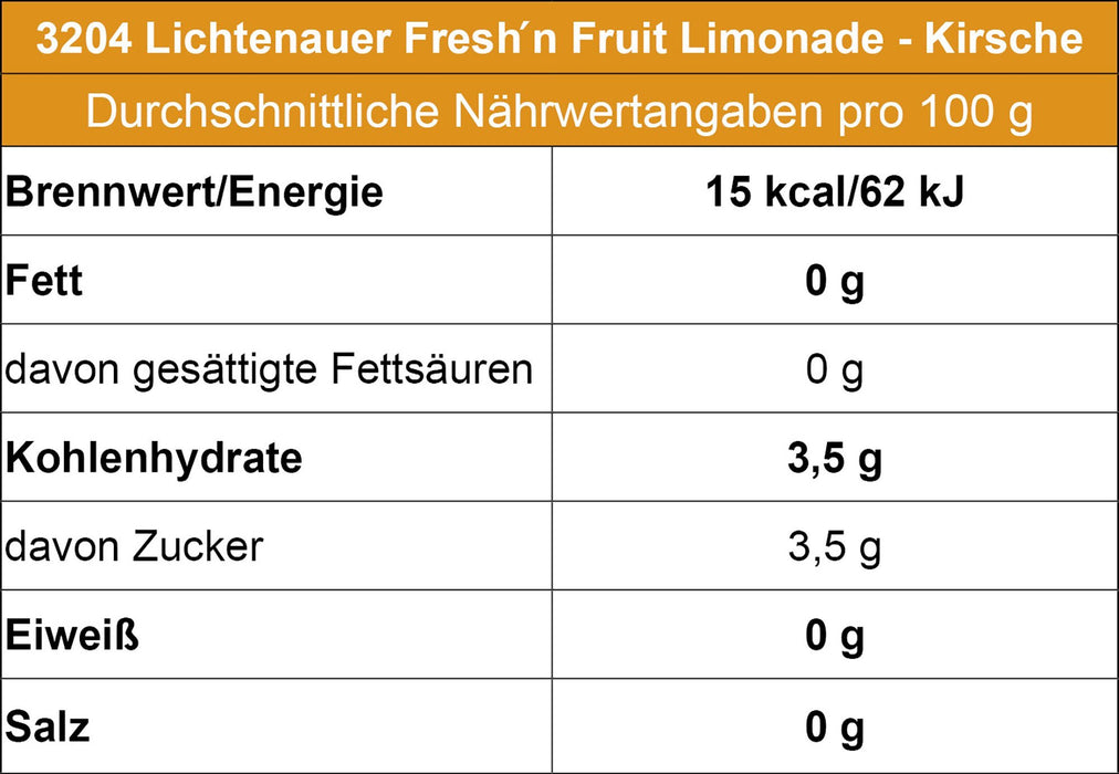 Lichtenauer Fresh´n Fruit Limonade - Kirsche