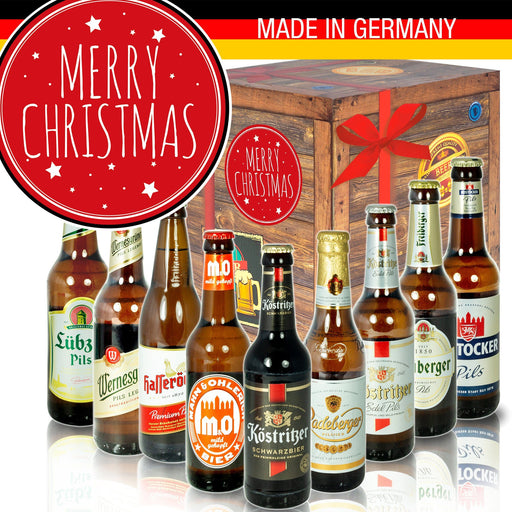 "Merry Christmas - Geschenkbox ""Ostbiere"" 9er Set"