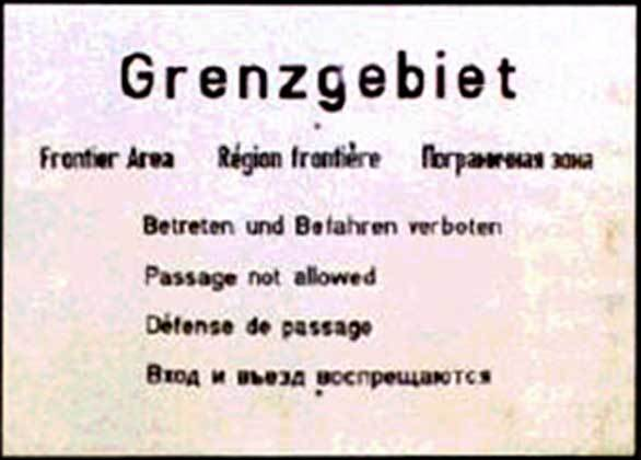 Original DDR-Grenzschild