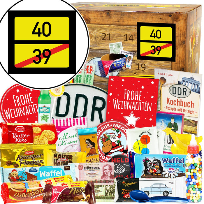 Ortsschild 40 - DDR Adventskalender