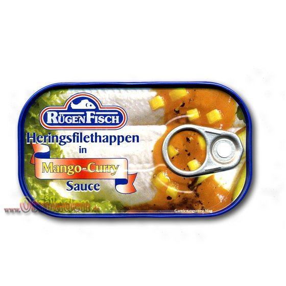 RügenFisch Heringsfilethappen in Mango-Curry Sauce, 120g
