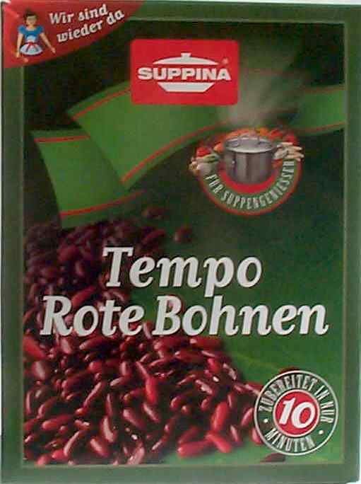 Suppina Tempo Rote Bohnen, 225g