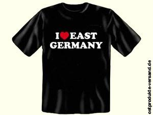 Tshirt I LOVE EAST GERMANY schwarz