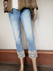 Driftwood 'Mustang' cropped Colette Jeans