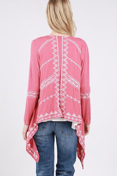 Aztec Embroidered Cardigan