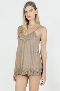 Acid Wash Basic Vintage Camisole - Dune