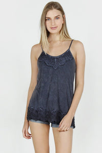 Acid Wash Basic Vintage Camisole - Dark Navy