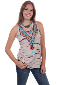 Althea Sleeveless Embroidered Top