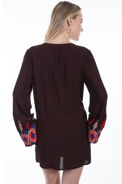 Embroidered Tunic with Bell Sleeves