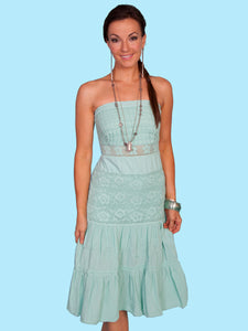 Tube Top Dress in Mint