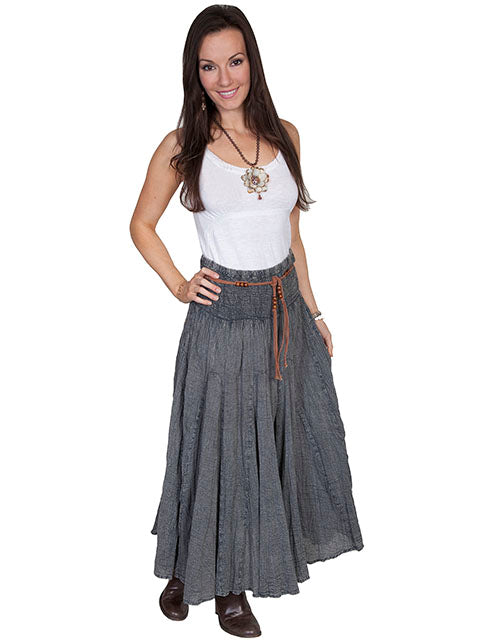 Charcoal Mineral Wash Skirt