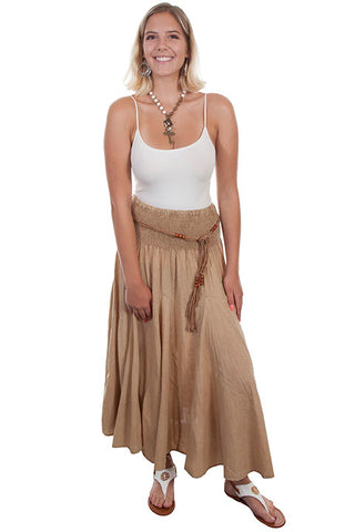 Khaki Mineral Wash Skirt