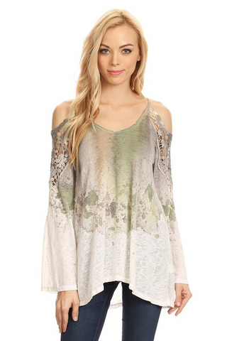 Shoulder Butterfly Special Dye Top