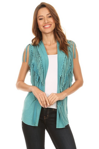 Front and Back Fringe Vest
