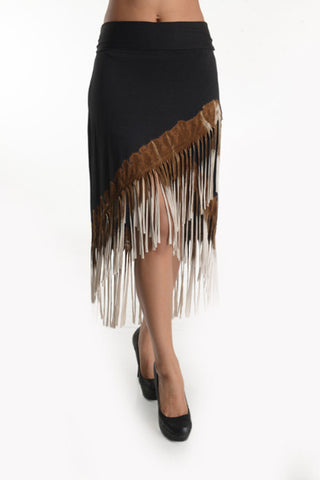 Kali Fringe Skirt in Ombre