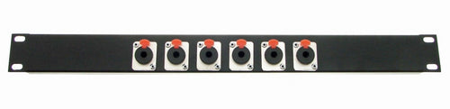 1U Procraft Feed Thru Rack Panel 6 Channels,Any Configurations of Pass Throughs