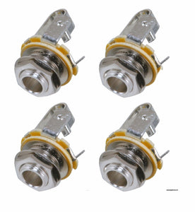 "(4 Pack)  Neutrik Rean NYS229 1/4"" 6.35 mm Female Panel Chassis Mount Mono Jack"