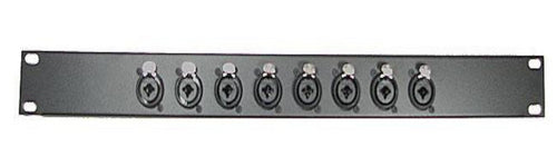 1U Procraft Rack Panel 8 Ch Combo XLR 1/4