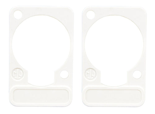 2 Pack Neutrik DSS-9-White  D-Series Lettering ID Plate for XLR Panel Connectors