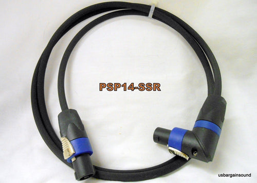 ProCraft (PSP14-10-SSR) 10 Foot 14 Ga. Speaker Cable Wire Speakon to R/A Speakon