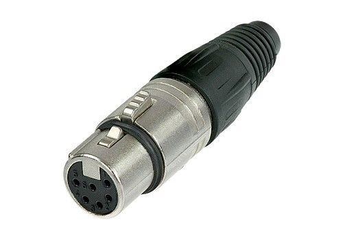 Neutrik NC6FSX  6 Pole Female XLR Switchcraft Type Connector Nickel/Silver