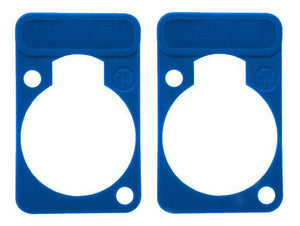 2 Pack Neutrik DSS-6-Blue  D-Series Lettering ID Plate for XLR Panel Connectors