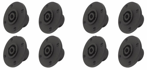 8 PC-TSC010 4-Pin Round Speakon Male Panel Locking Speaker Connector NL4MPR sim.