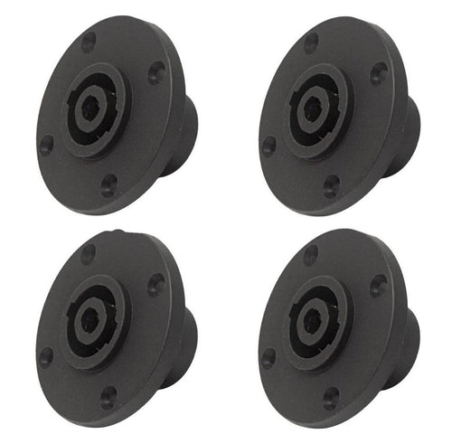 4 PC-TSC010 4-Pin Round Speakon Male Panel Locking Speaker Connector NL4MPR sim.
