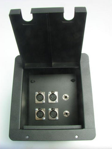 ProCraft Pro Audio Recessed Stage Floor Pocket Box 4 XLR/Channel, 2 1/4