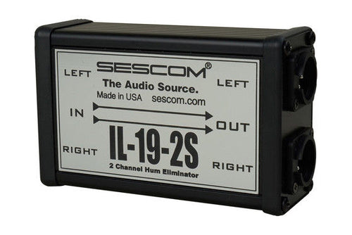 Sescom IL-19-2S Two Channel Pro Audio Hum Eliminator with Isolation