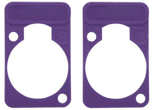 2 Pack Neutrik DSS-7-VIOLET  D-Series Lettering ID Plate for XLR Panel Connector