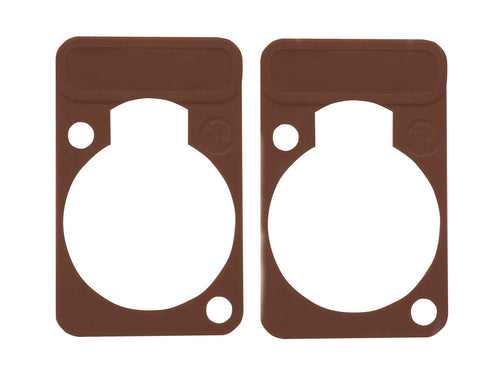 2 Pk Neutrik DSS-1-Brown D-Series Lettering & ID Plate for XLR Panel Connectors