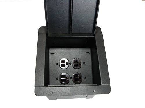 ProCraft Recessed Stage Floor Pocket Box 2 AC Duplex - 4 Outlets - Made in USA