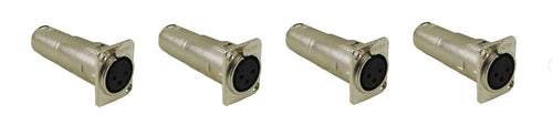 4 ProCraft SVP576-2 XLR Converter Female to Male Feed / Pass Thru Adapter Jack