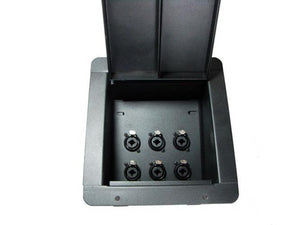 ProCraft Recessed Floor Pocket Box Loaded w/ 6 NCJ6FI-S Neutrik combo 1/4 / XLR