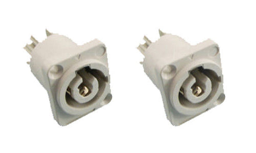 (2) ProCraft PC-TSC045 Panel Mount Power Out Connector - Neutrik Powercon Style