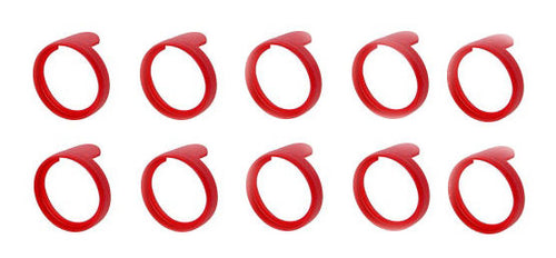 (10 Pack)  NEUTRIK PXR-2  Red Colored ID Rings for PX Series 1/4