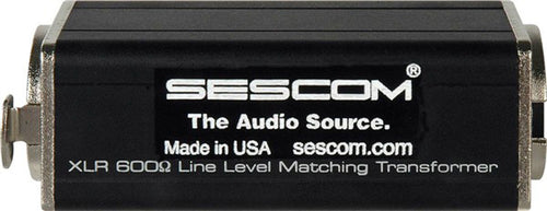 Sescom SES-XLR-ISO 600 Ohm Inline XLR Mic Matching Transformer Made in the USA