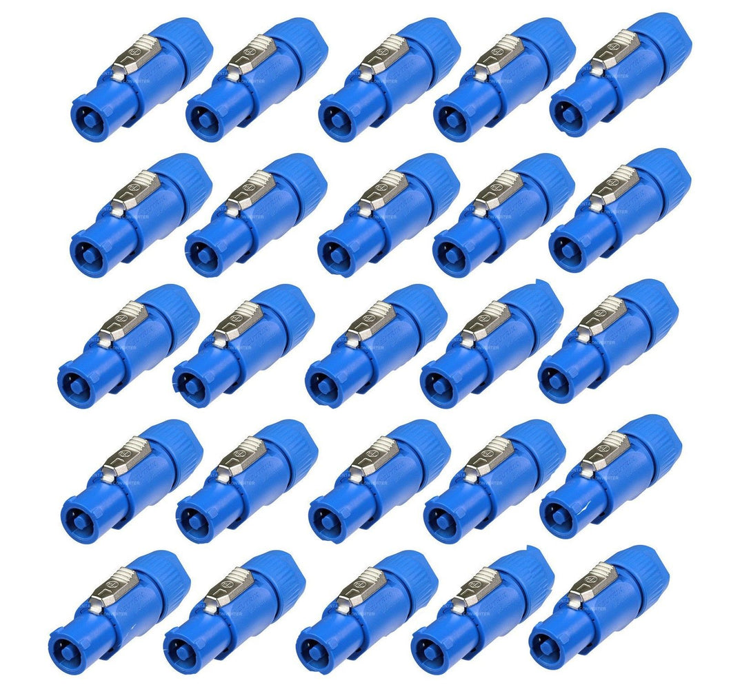 25 Neutrik Power In Blue NAC3FCA Series PowerCon Locking AC Connector Cable Plug