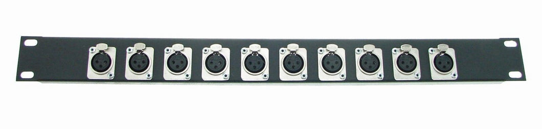 1U Procraft Feed Thru Rack Panel 10 Channels,Any Configurations of Pass Through