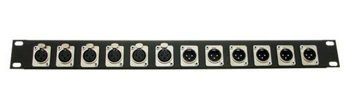 1U ProCraft Feed Thru Pro Rack Panel 12 Channel Pass Through Any Configurations