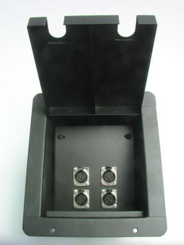 ProCraft Pro Audio Recessed Stage Floor Pocket Box 4 XLR/Channel -Black